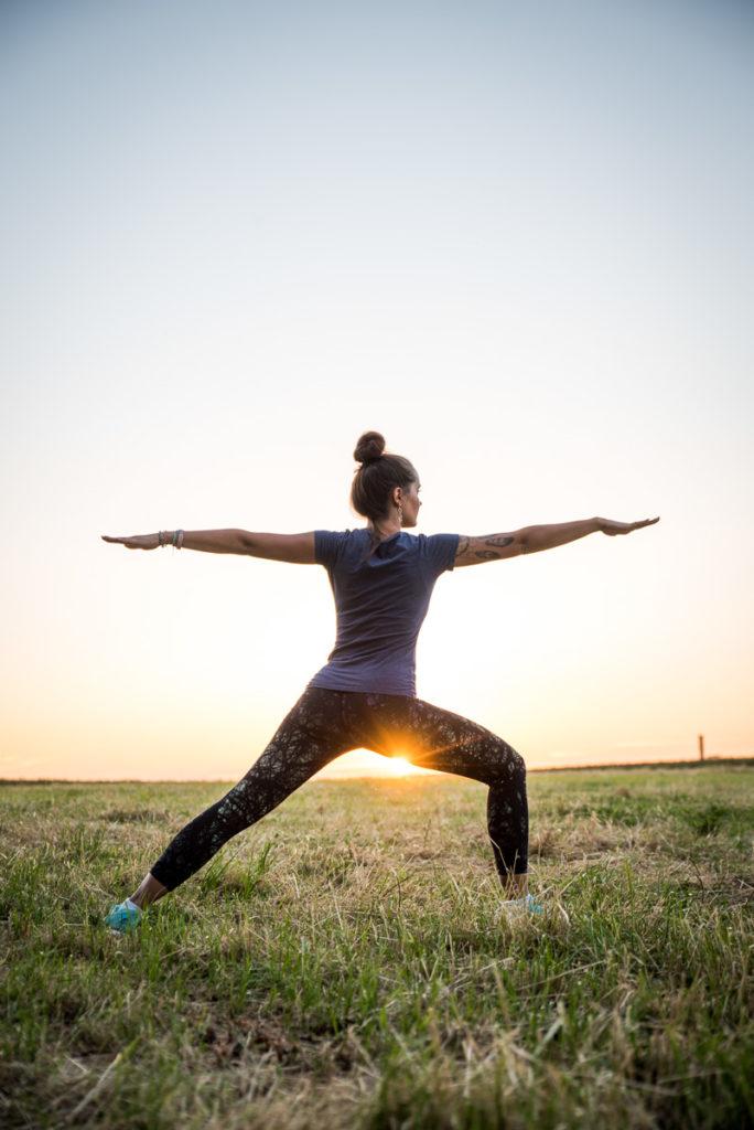 Fotoshooting Yogalehrerin Fitness Coach Fotograf Werbung Bewegung